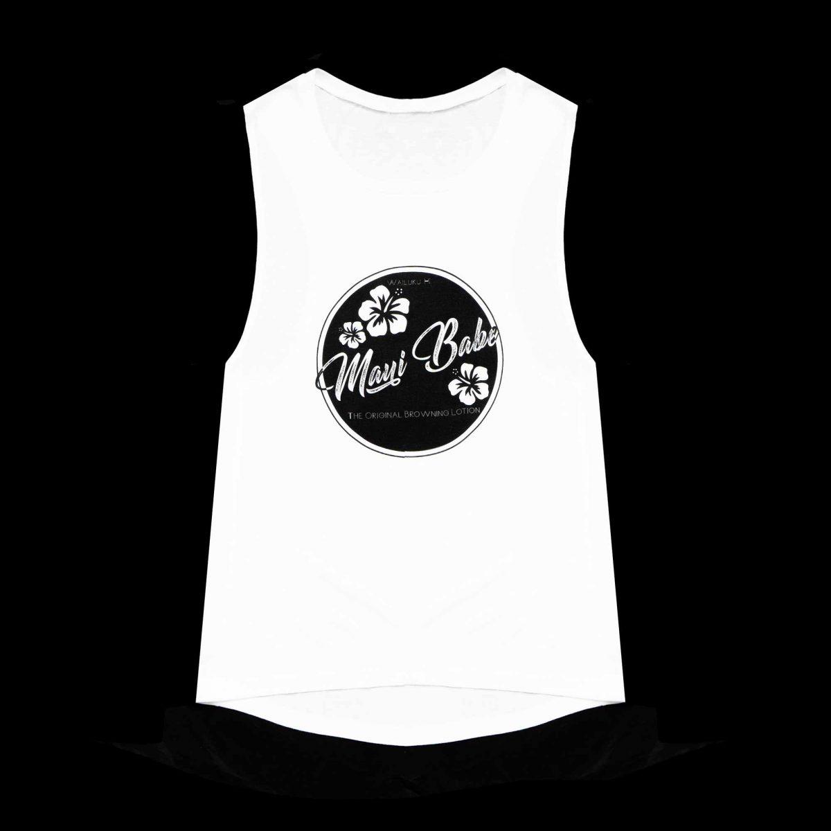 Women's Muscle Tank (White)