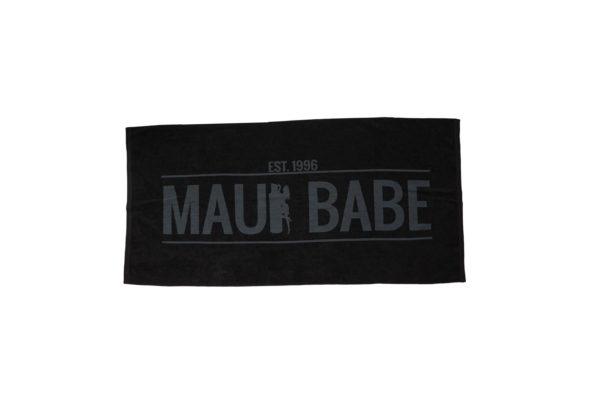 Black Classic Maui Babe Beach Towel