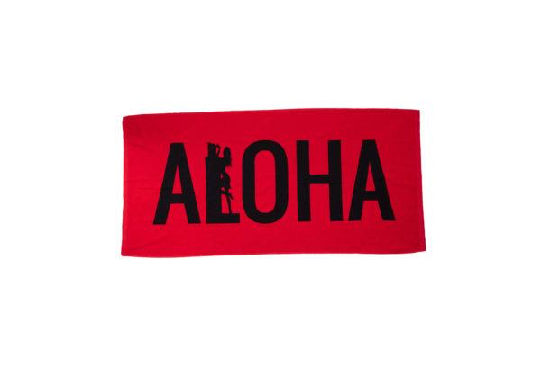 Red Aloha Beach Towel