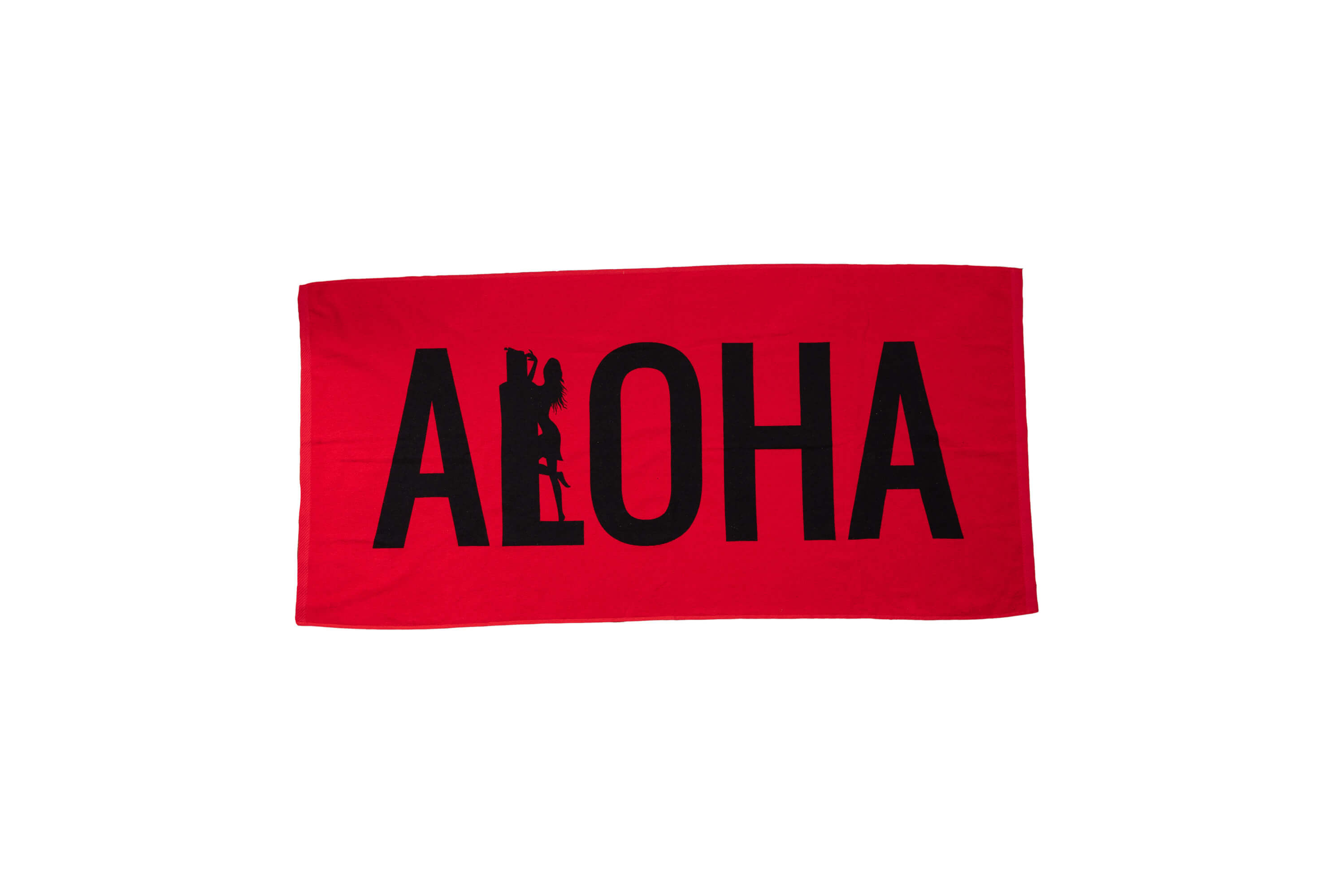 Red Aloha Beach Towel Maui Inc