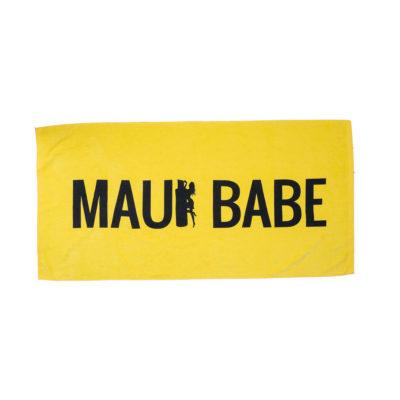 Yellow Maui Babe Beach Towel