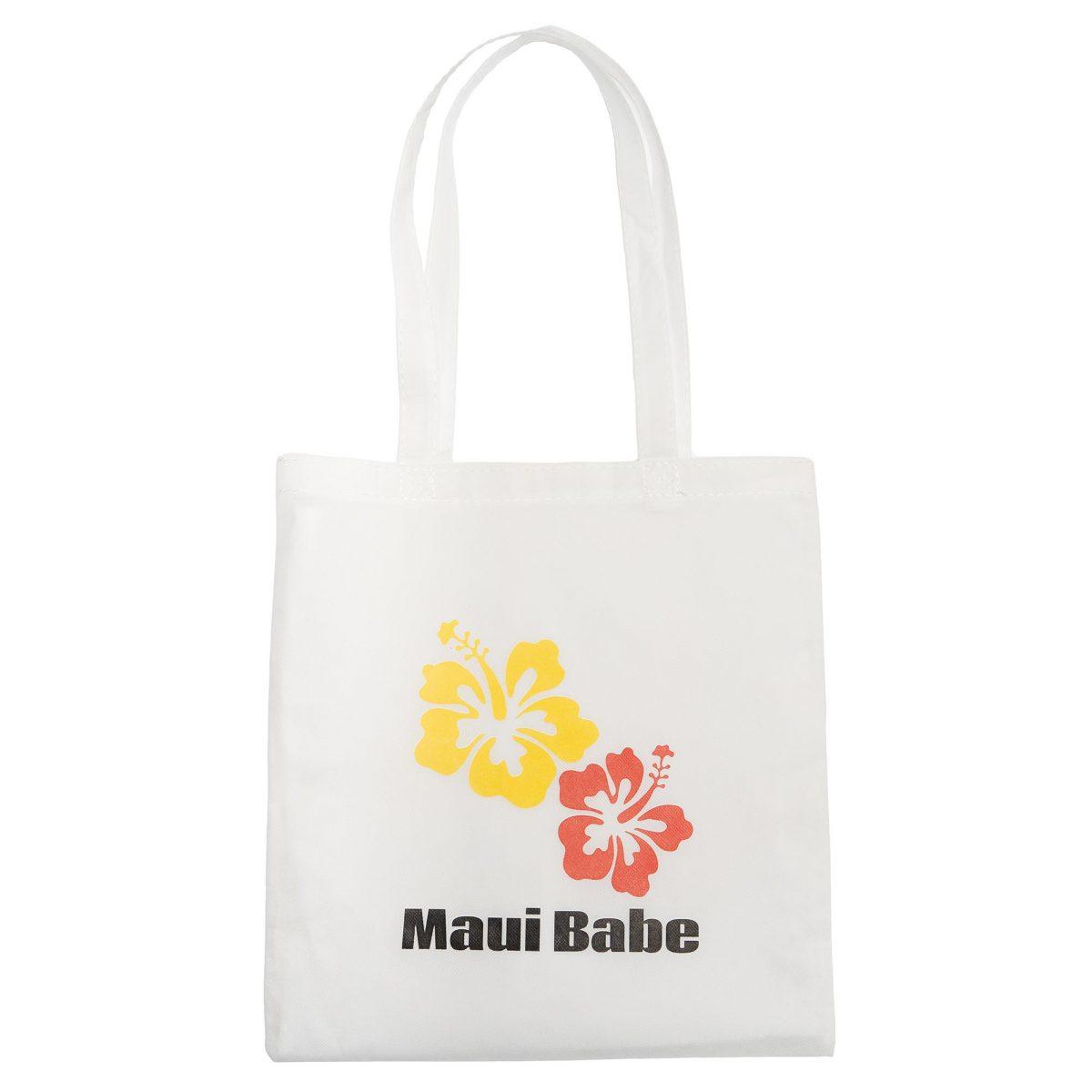White Maui Babe Hibiscus Tote Bag