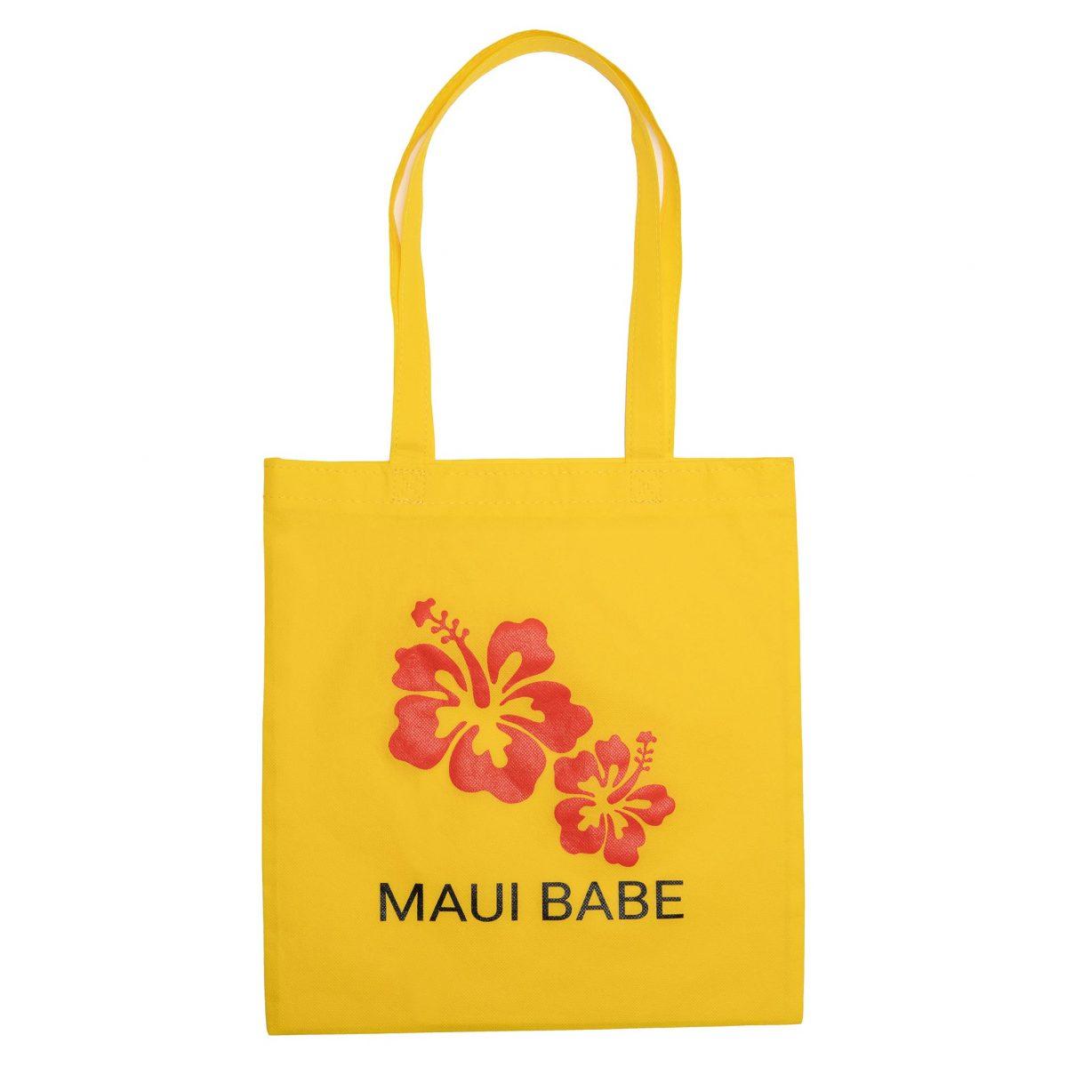 Yellow Maui Babe Hibiscus Tote Bag